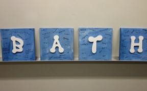 Art by students spelling BATH