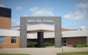 High School Building Entrance Area
