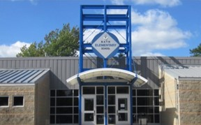Elementary School Building Entrance