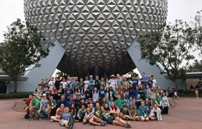 Bath middle school students at walt disney world