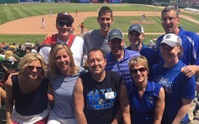 middle school staff at Lugnuts game