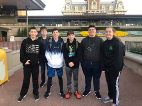 Middle school students at Disney in Orlando, Florida