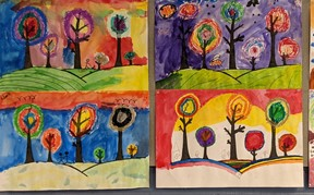 Painted tree pictures